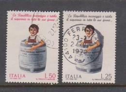Italy Republic S 1159-1160 1971 Postal Savings,used - 6. 1946-.. Republic