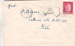 Allemagne - Occupation - Ostland - Lettre De 1942 - Oblit Riga - Exp Vers Riga - Hitler - Occupation 1938-45