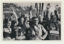 Olympia 1936  Vignette Sammelbild Militär Parade Italienische Mannschaft - Trading-Karten