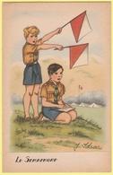"""J. IDRAC - Le Semaphore (Mention """"par Autorisation Spéciale Du Q.G. Scout"""" Au Verso) - Altre Illustrazioni"""