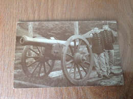 Camp De Beverloo Canon Militaires Photo Carte Originale 1909 - Guerre 1914-18