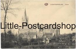 AK 1.WK Lichtervelde Kerk Feldpost 1915 Stempel Res. Inf. Regt. 233 Kirche - Guerra 1914-18