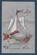 1er Avril - Belle Carte En Celluloïd - Erster April