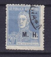 Argentina Mi. 292 II General San Martin Aufdruck (III A) 'M.H.' Used - Oficiales