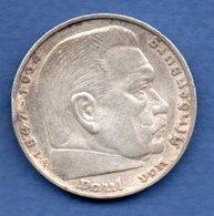 Allemagne  - 5 Reichsmark 1936 F  -  Km # 94   -  état  TTB - [ 4] 1933-1945 : Third Reich