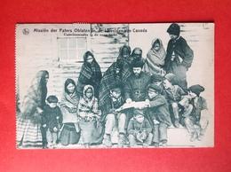 MISSIEN DER PATERS OBLATEN IN DE IJSVELDEN VAN CANADA - CATHECHISMUSLES IN DE OPEN LUCHT - Indiens De L'Amerique Du Nord