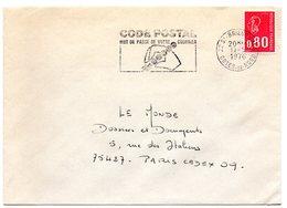 COTES Du NORD - Dépt N° 22 = SAINT BRIEUC GARE 1976 = FLAMME Codée à GAUCHE =  SECAP Multiple ' CODE POSTAL / Mot Passe' - Zipcode