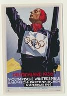 Olympia 1936  Vignette Sammelbild Plakatwerbung Garmisch Partenkirchen - Trading-Karten