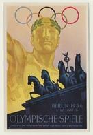 Olympia 1936  Vignette Sammelbild Plakatwerbung Berlin - Trading-Karten