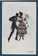 Silhouettes - Der Recte - Femme à L' éventail - Silhouetkaarten