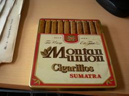 Old Tin Box Montan Union Cigarillos Sumatra - Contenitori Di Tabacco (vuoti)