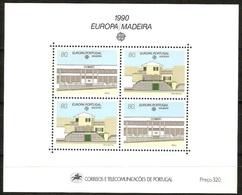 Madeire Bloc 11 ** Europa 1990 Architecture Etablissements Postaux Post Offices - Europa-CEPT