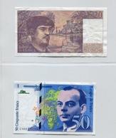 BILLET FRANCAIS 50 Francs Saint Exupéry 1992 Et 20 Francs DEBUSSY 1992 - 1962-1997 ''Francs''