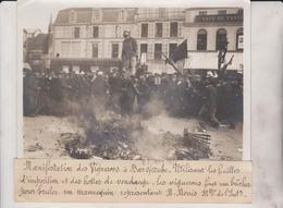 MANIFESTACION  VIGNERONS BAR SUR AUBE  HOTTES DE VENDANGE  M MONIS 18*13CM Maurice-Louis BRANGER PARÍS (1874-1950) - Lugares