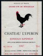 Etiquette De Vin // Bordeaux, Château L'Eperon, Coq - Frogs
