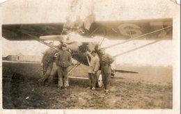 """Photo. 11 X 7 Cms.  Avion Henriot. """"j'ai Pris Mon Baptême De L'air Avec Le Sgt Chef Hourcade Le 5.10.31 Dans Un Hanrio"""". - Aviation"""
