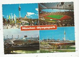 Cp, Allemagne , MUENCHEN ,  MÜNCHEN , Olympiapark , Multi Vues ,  Vierge - Muenchen