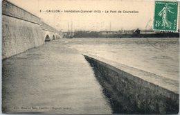 27 - GAILLON -- Inondation( Janvier 1910 )  Le ^pont De Courcelles - Other Municipalities