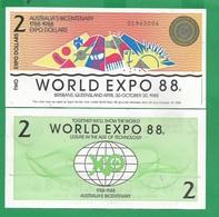 AUSTRALIA - 2 DOLLARS - 1988 - UNC  PRIVATE ISSUE - Australië