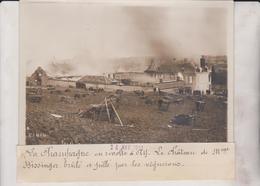 LA CHAMPAGNE EN RÉVOLTE A AY LE CHÂTEAU BISSINGER BRULE  LES VIGNERONS  18*13CM Maurice-Louis BRANGER PARÍS (1874-1950) - Lugares