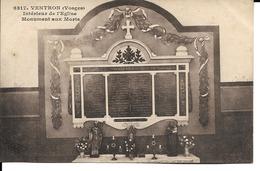 88 - Ventron - Intérieur De L'Eglise - Monument Aux Morts - Francia
