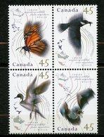 Canada, Yvert 1422/1425 Avec Faute D'orthographe, Scott 1566a, MNH - 1952-.... Règne D'Elizabeth II