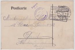 POSTKARTE-KRIEGSGEFANGENEN-GUSTROW-DUITSLAND NAAR GENT-1916-SOLDAT BELGE-VANDEVELDE ARSENE-MOOI-ZIE 2 DE SCANS - Prisonniers