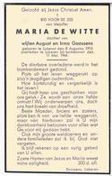 Oorlog. De Witte Maria. Dochter. V. August E. Irma Goossens. ° Lokeren 1913 † Lokeren 1944  (Luchtaanval) - Religion & Esotérisme