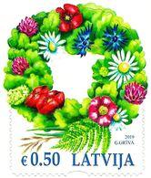 Latvia Lettland Lettonie 2019 (09) Summer Solstice Celebration Wreath - Flowers - Lettland