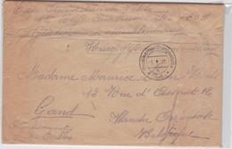 ENVELOPPE-KRIEGSGEFANGENEN-GUSTROW-DUITSLAND NAAR GENT-1918-SOLDAT BELGE-VANDEVELDE ARSENE-ZIE 2 DE SCANS - Prisonniers