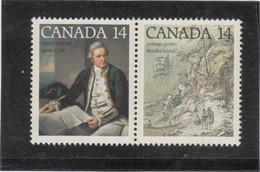 VV5 - CANADA 661/662 ** MNH De 1978 Se Tenant - JAMES COOK - NOOTKA SOUND - - 1952-.... Règne D'Elizabeth II