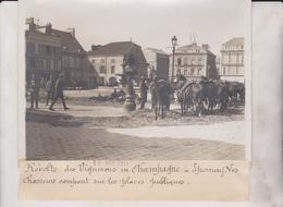 CHAMPAGNE EN RÉVOLTE DES VIGNERONS EPERNAY CHASSEURS PLACES PUBLIQUES   18*13CM Maurice-Louis BRANGER PARÍS (1874-1950) - Lugares