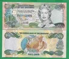 BAHAMAS - 1/2 DOLLAR – 2001 - UNC - Bahamas