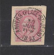COB 46 Oblitération Centrale ANVERS (Place-St-Jean) Superbe - 1884-1891 Léopold II