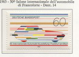 PIA - GERMANIA :1983 : 50° Salone Internazionale Dell' Automobile A Francoforte - (Yv1014) - Automobili