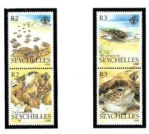 Seychelles 638-41 MNH 1988 Green Turtles - Seychelles (1976-...)