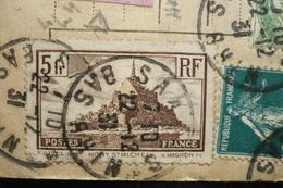 Pré Perforé Triangle (rare) N°260 Colis Postaux Alsace Lorraine Saales 22/12/31 - Perforés