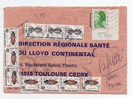 Lettre Taxée De 1984  N° 2318 Avec Coin Daté - Postage Due Covers