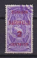 Guatemala 1898 Mi. 87a     2c. Auf 5c. Staatswappen Stempelmarke Aufdruck - Guatemala
