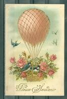FANTAISIE - Doux Souvenir - Ballon - Oiseaux Et Fleurs - Montgolfières