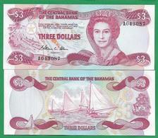 BAHAMAS - 3 DOLLARS – 1974 - UNC - Bahamas