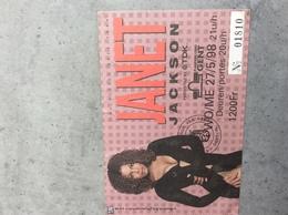 Janet Jackson. 27/05/1998 - Tickets De Concerts