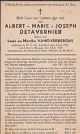 O.L.V. Lombeek, Brugge, 1944, Albert Detavernier, Vanoverberghe - Devotieprenten