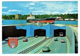 Hamburg Elbtunnel 3 Postcards - Sonstige