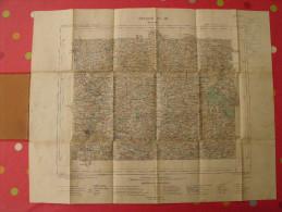 Carte D'état Major De Mayenne. 1890. Hachette. Ministère De L'intérieur. 1/100000. Charcigné Javron Grazay Ambrières - Cartes Topographiques