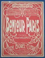 CAF CONC PIANO GF CHANT CASINO PARTITION BONJOUR PARIS WILLEMETZ BOREL-CLERC ST GRANIER LE SEYEUX 1924 - Música & Instrumentos