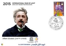 DZ Algeria 1731 Anno Internazionale Della Luce Ibn Al-Haytham Scienza Fisico Albert Einstein (1879-1955) - Fisica