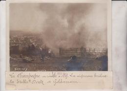 LA CHAMPAGNE EN RÉVOLTE A AY  VIGNERONS BRÛLENT LES ESTABLIS DEUTS 18*13CM Maurice-Louis BRANGER PARÍS (1874-1950) - Lugares