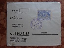 PARAGUAY 1951 - Lettera Spedita Dal Paraguay In Germania + Spese Postali - Paraguay