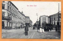Kristiania Oslo Karl Johans Gade Norway 1908 Postcard - Norway